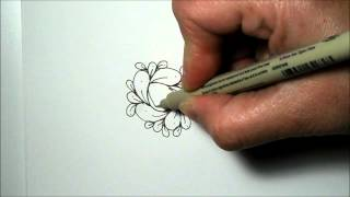 How To Draw Cirque Tangle Pattern -  Zentangle Inspired, Doodle, Tangle Patterns