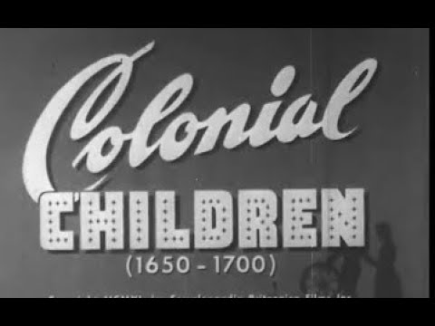 Colonial Children (1650-1700) -  17th Century New England