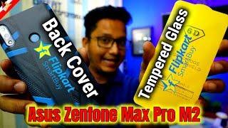 Best Tempered Glass & Back Cover for Asus Zenfone Max Pro M2 | Flipkart Smartbuy | Data Dock