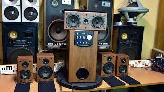 Genius SW-HF 5.1 5000 Home Cinema - Bass Reflex Subwoofer Multichannel Amplifier + Speakers