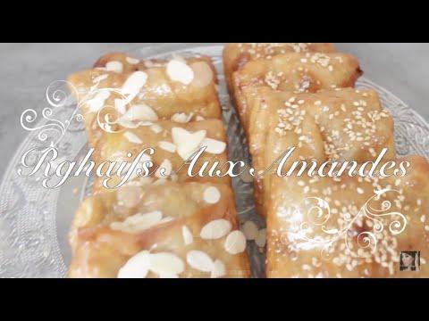 recette-:-rghaifs-(crêpes)-au-miel-farcis-aux-amandes