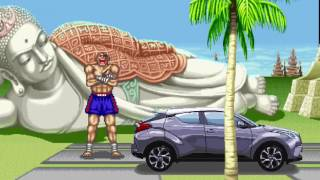 Toyota C-HR Japanese Street Fighter II commercial