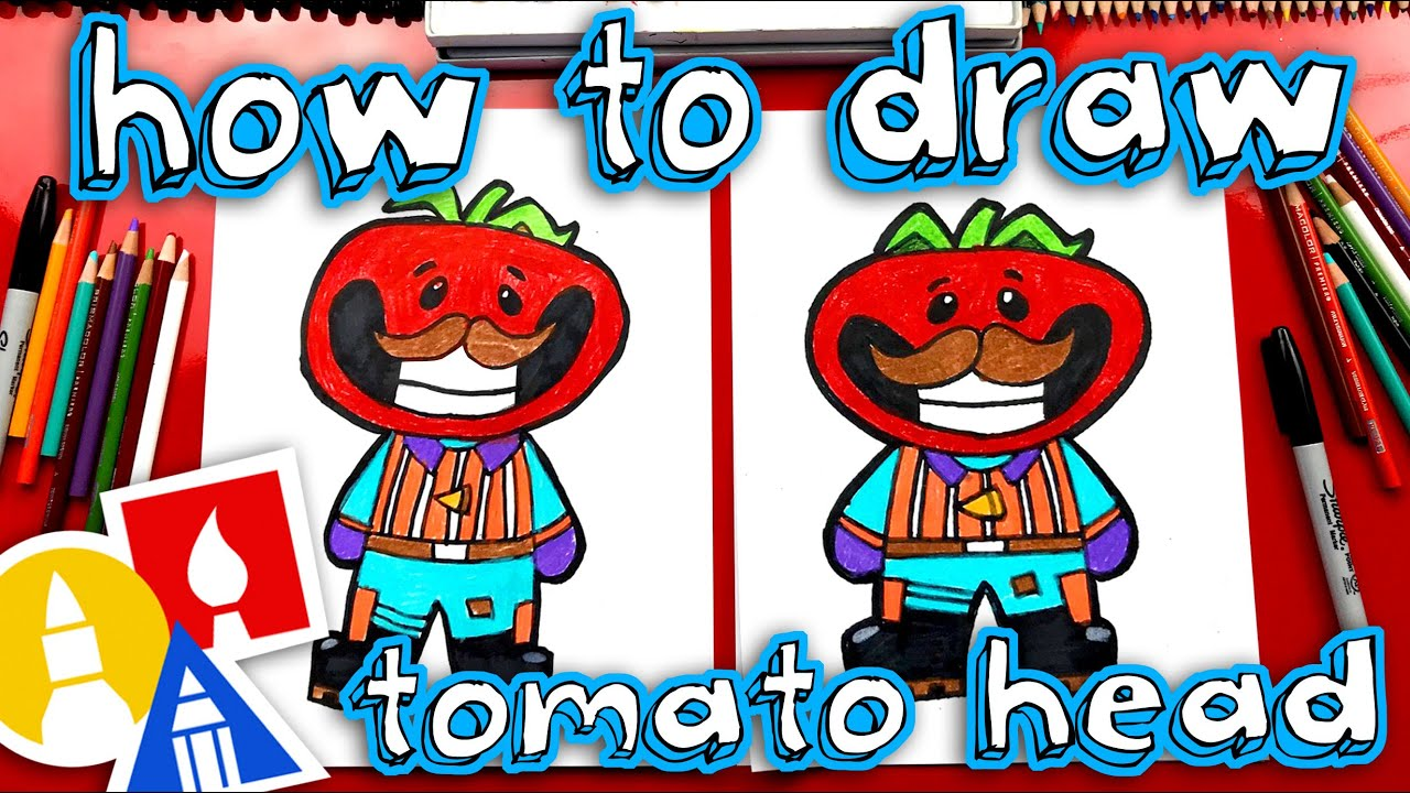 How To Draw Tomato Head Fortnite Skin Cartoon Youtube Can Spider Bus Hub