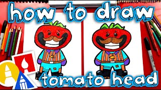 How To Draw Tomato Head Fortnite Skin (cartoon)