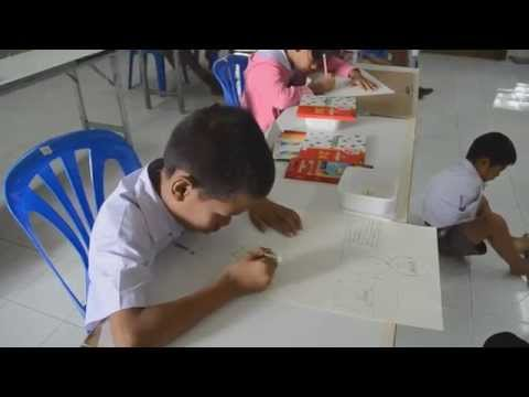 พิษณุโลก1710567น้องทามเท้าวาดรูปแข่งงานศิลปะนร