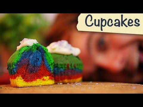 Wie man Rainbow Cupcakes macht!