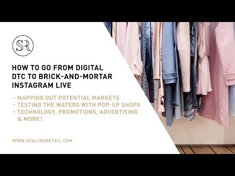 """Instagram Live April 12th: """"How to Go from Digital DTC to Brick-and-Mortar"""""""