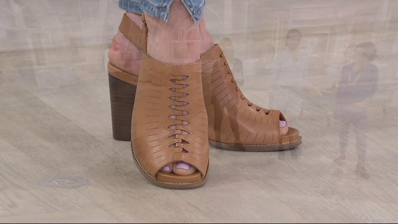 862ee4f8bc8 Clarks Artisan Leather Block Heel Sandals - Briatta Key on QVC - YouTube