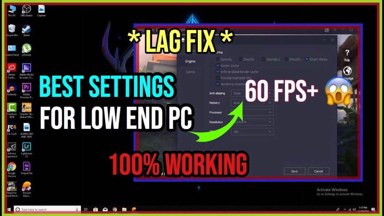 FIX LAG in Tencent Gaming Buddy Low End PC PUBG Mobile ( 2019 Best Settings  )