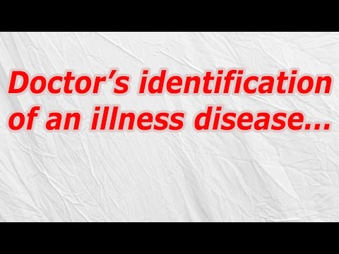 Doctor's identification of an illness disease (CodyCross Crossword Answer)