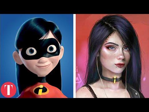 Sexy girl cartoon characters