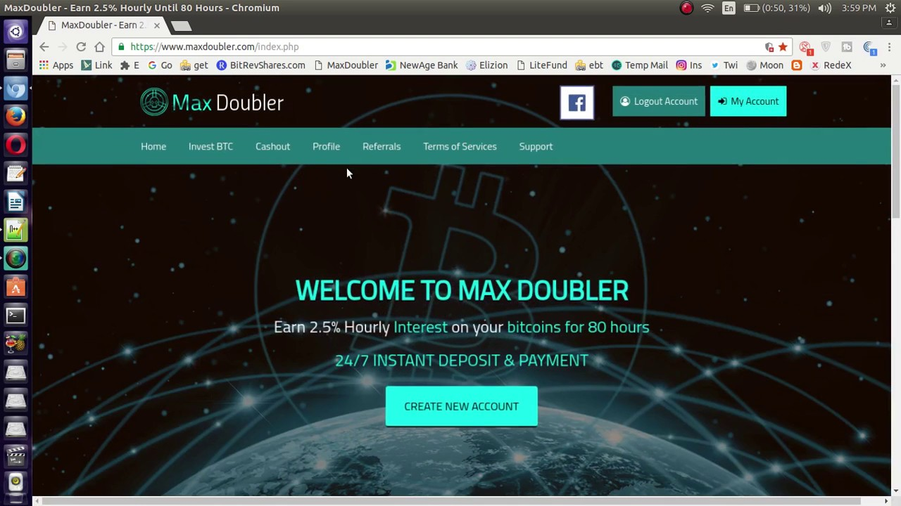 Double your Bitcoins Investment 5% hourly Profit With MaxDoubler - YouTube