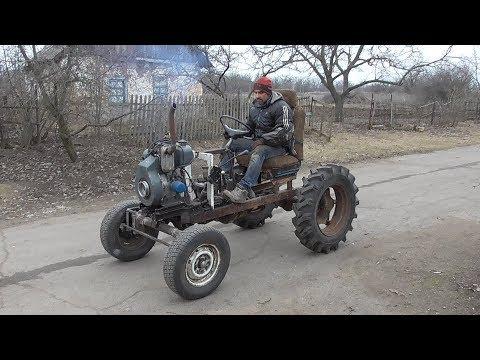 Самодельный Мини ТРАКТОР из МЕТАЛЛОЛОМА ! Mini Tractor ! 2 часть