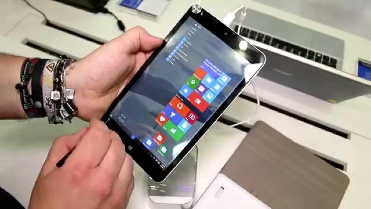 msi s80 note 8 inch windows 10 tablet with stylus hands on english youtube