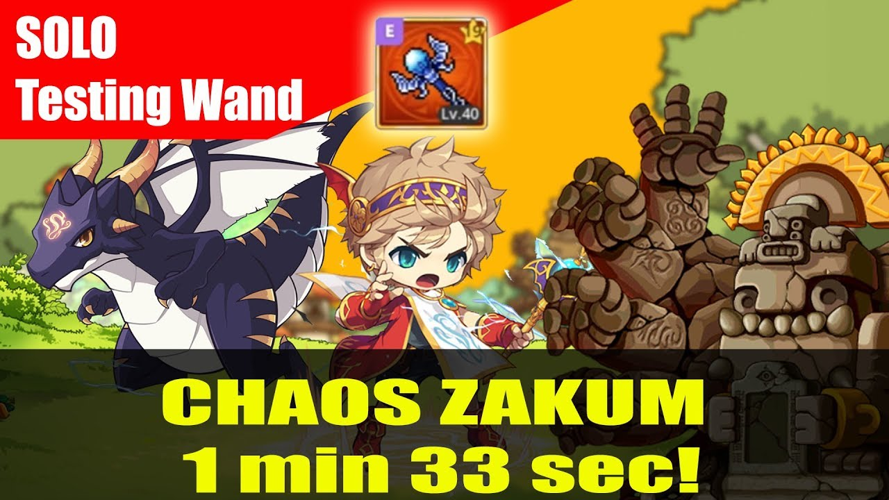 Maplestory M - Solo Chaos Zakum with my perfect Wand - Evan