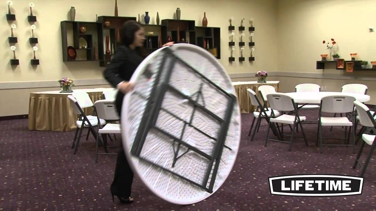 lifetime chairs and tables ikea kid table 60 round commercial combo youtube