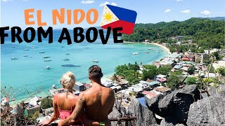 El Nido from above - we did NOT expect this!!!!!