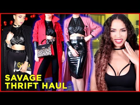 THRIFT HAUL SAVAGE ! THRIFT STORE HAUL Try On FALL FASHION | SAVE $$$