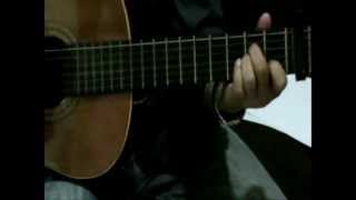 Cherry Red ( Bee Gees) Gitar with Capo kunci chord kord lagu barat lama enak