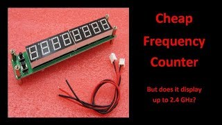 Cheap Frequency Counter from eBay