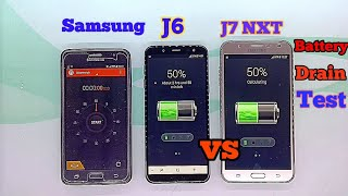 Samsung Galaxy J7 NXT vs Samsung Galaxy J6 Battery drain Test 50% to 0%