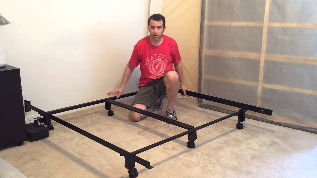 Leggett And Platt Instamatic Bed Frame with Wheels Review - YouTube