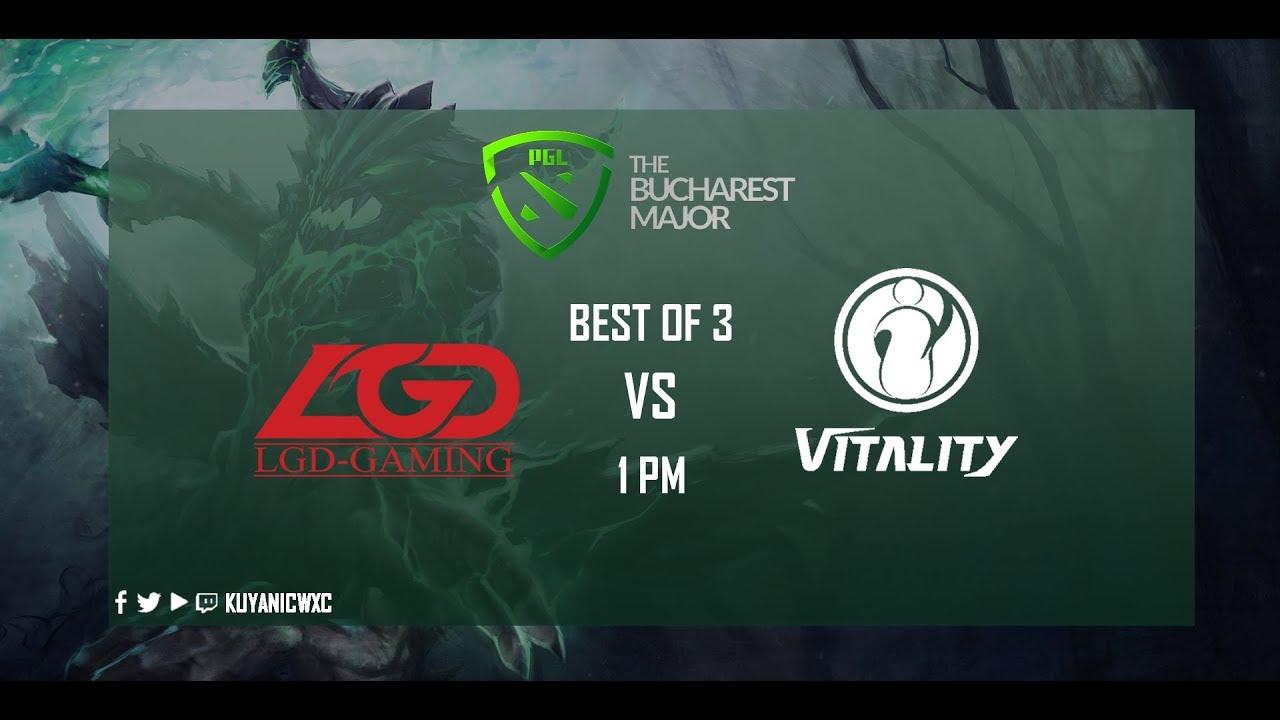 IG Vitality Vs LGD Gaming Game 1 BO3 PGL Bucharest