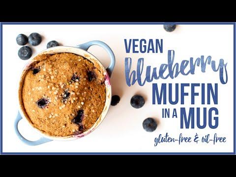 Blueberry Muffin in a Mug // vegan, gluten-free, oil-free