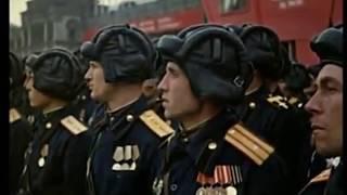 Парад Победы 1945 Русские идут - поёт Жанна Бичевская