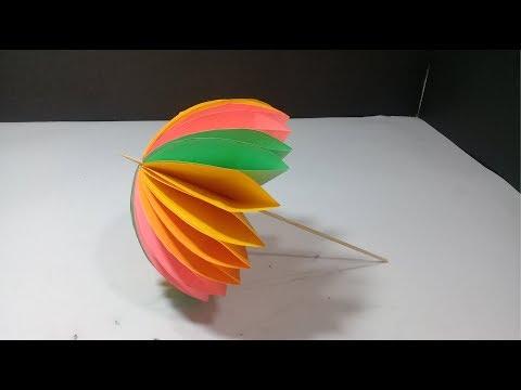 Paper Crafts | Paper Umbrella | Art and Crafts | Safir Crafts Studio