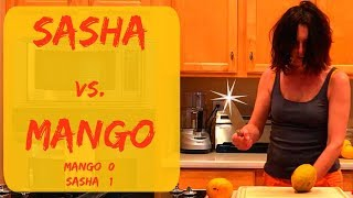 HOW TO SLICE A MANGO & HOW DO YOU CUT OPEN A MANGO - THURSDAY TIPS WITH SASHA