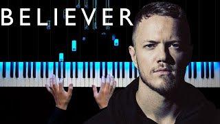 Imagine Dragons - Believer | Piano tutorial | Sheets