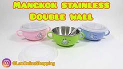 Mangkok baby food grade zebra double wall