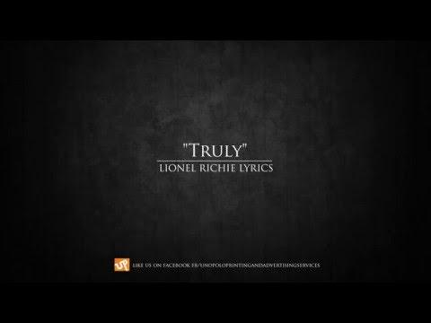 Truly - Lionel Richie lyrics