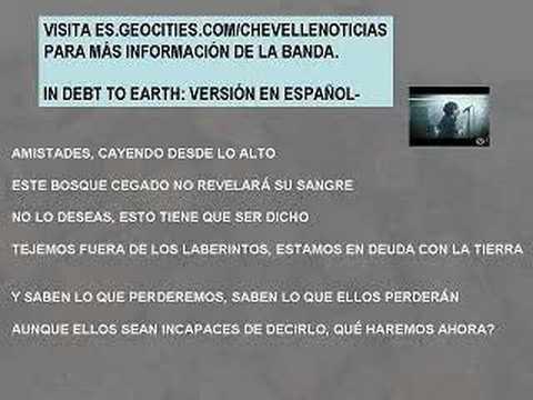 CHEVELLE IN DEBT TO EARTH EN ESPAÑOL!!!