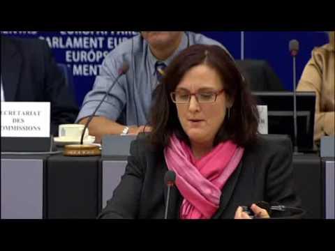 2010 01 19 - Cecilia Malmström nem ad választ a rendőri erőszakkal kapcsolatos kérdésekre