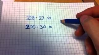 Overslag ved multiplikasjon