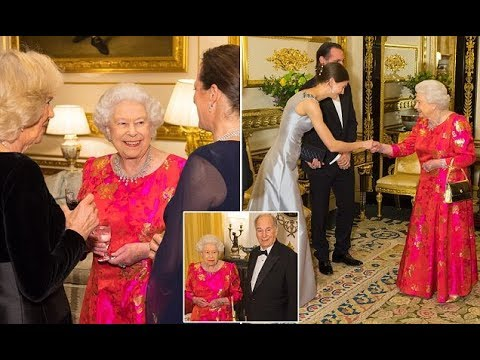 The Queen Elizabeth celebrates the Aga Khan's diamond jubilee
