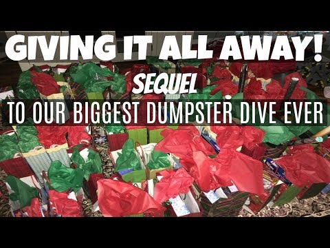 GIVING IT ALL TO THE NEEDY! BIGGEST DUMPSTER DIVE EVER