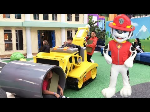 Nickelodeon Universe Theme Park Paw Patrol Playground - BIGGEST Indoor Playground American Dream