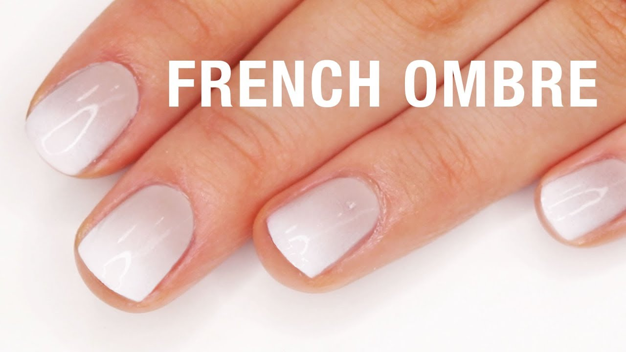 French Ombre Nail Tutorial - YouTube