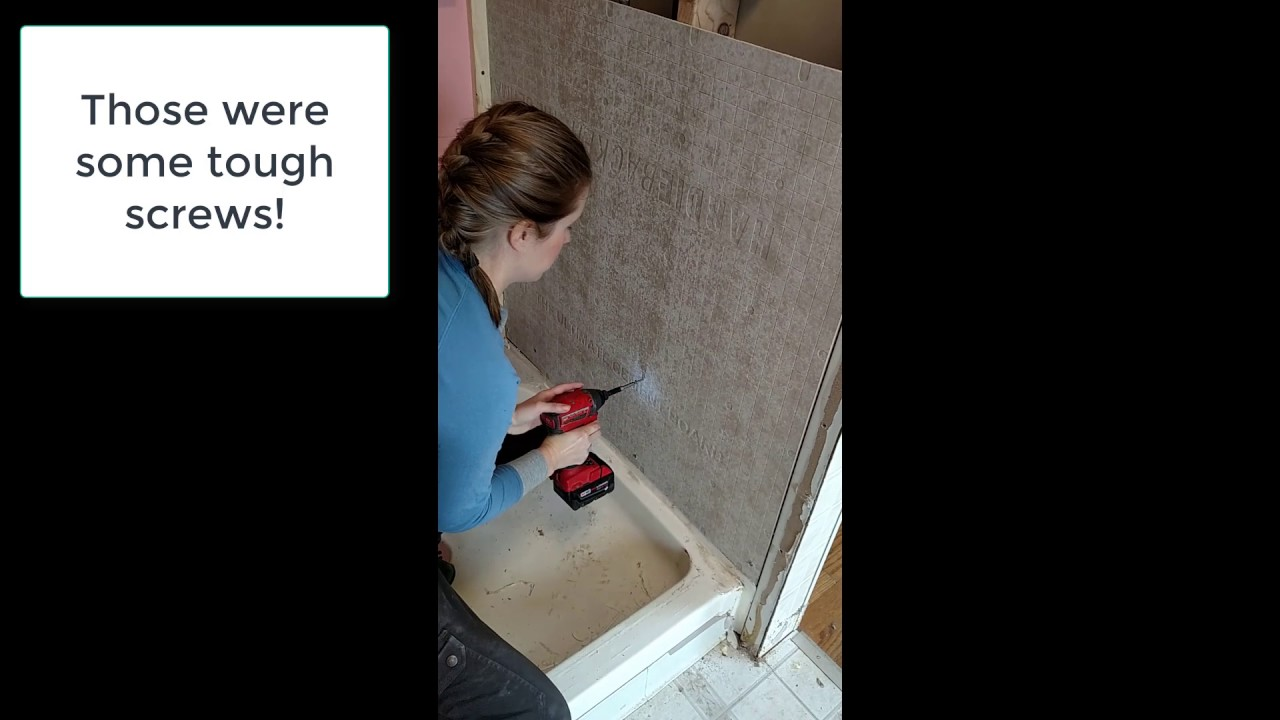 Shower Renovation - Hardie backer installation - YouTube
