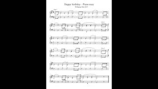 Happy Birthday To You ♪ Piano easy ♫♪ Free Sheet Tutorial ♪♩HD ♬♪ Noten Notes Olias 2015