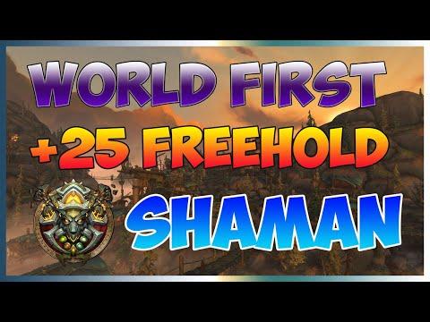 (8.3) Freehold +25 World First | Elemental Shaman