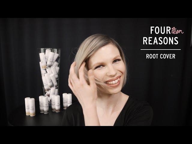 Luo tyylikäs shadow root -tyvi vaaleisiin hiuksiin Four Reasons Root Cover -tyvisuihkeella