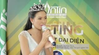 Hoa hậu Nguyễn Thị Kim Thoa casting Gương Mặt Đại Sứ cho thương hiệu An Tín Travel