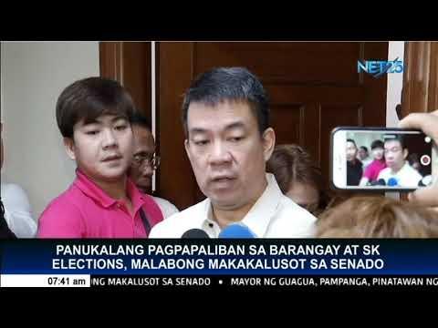 Panukalang pagpapaliban sa Barangay at SK elections, malabong makakalusot sa senado
