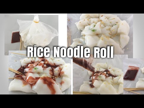 Rice Noodle Roll (Chee Cheong Fun) 猪肠粉 found in Secret Food Stall at Pujut 3, Miri City