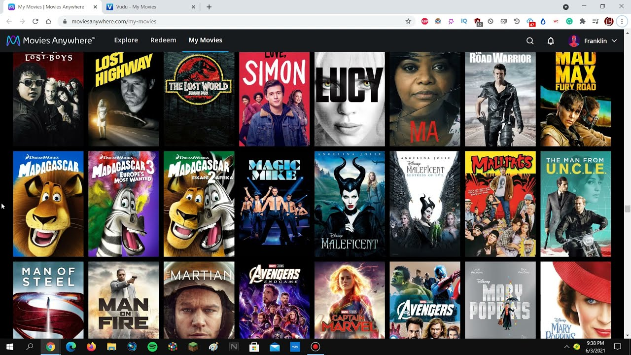 Download My Movies Anywhere and Vudu 1,250+ Digital Movies Collection (June 2021 Update)