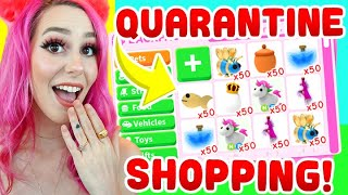 QUARANTINE SHOPPING HAUL IN ADOPT ME *i regret all of it* (Roblox)